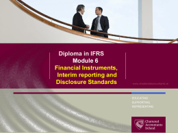 IAS 34 Interim Financial Reporting