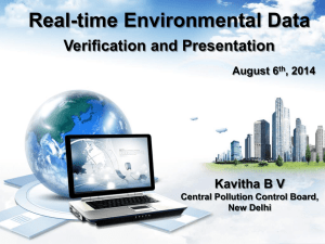 Real-time Environmental Data Verification and Presentation