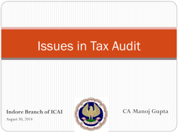 Tax Audit 30-08-2014 - Indore