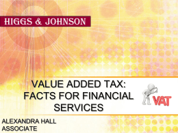 VAT - Facts for Financial Services - 17 Dec