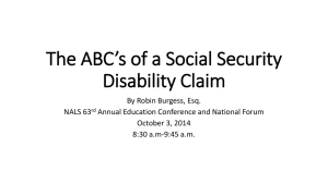 The ABC*s of a Social Security Disability Claim