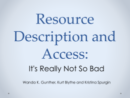 Resource Description and Access: