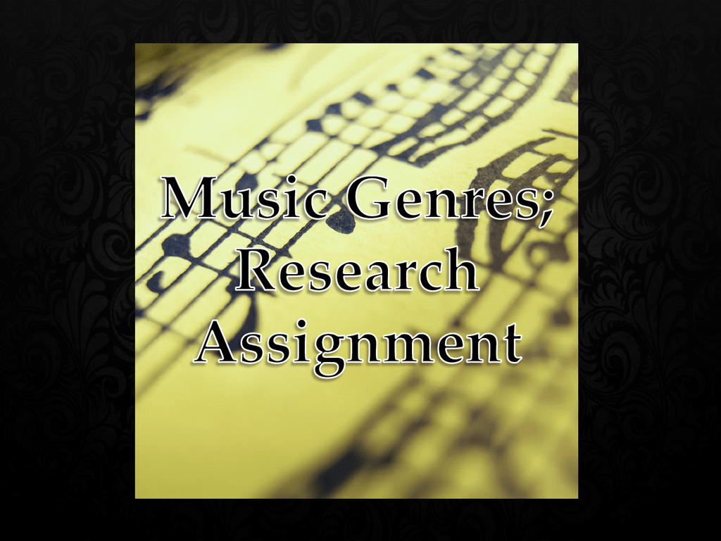 Isabella K - Music Genres Research Assignment