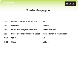 Control Framework Breakfast Group Presentation July 2013