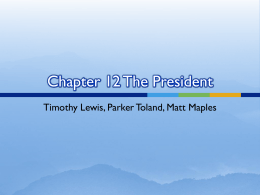 Chapter 12 The President