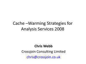 Warming Strategies for Analysis Services 2008