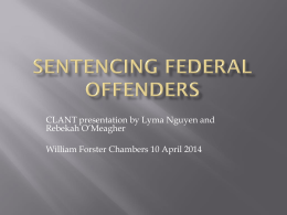 Sentencing options for Federal offenders