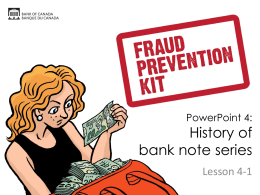 Bank Note Counterfeiting PowerPoint 4, Lesson 4-1