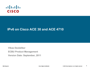 IPv6 on ACE - Cisco Communities