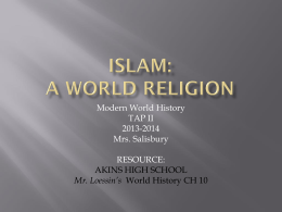 Islam: A World Religion