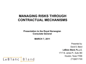Managing Risk Through Contractual Mechanisms