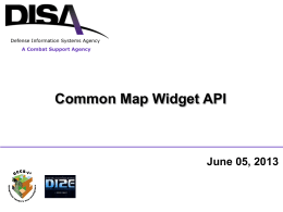 Common Map Widget API v13 - C4I Center