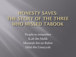 Honesty saves: The story if three who missed Tabook