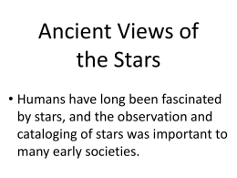 Ancient Views of the Stars