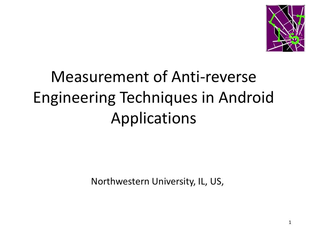 MobileObfuscation - Northwestern University