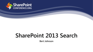 SharePoint 2013- Search and Ye Shall Find