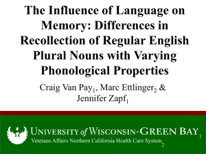 The Influence of Language on Memory: Differences in Recollection