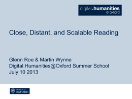 Day 3 Materials - Digital Humanities at Oxford