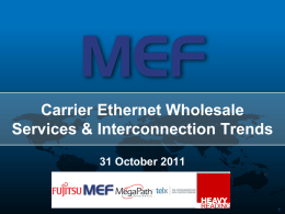 Carrier Ethernet Wholesale Services and Interconnect Trends