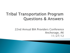 Tribal Transportation Program Questions & Answers