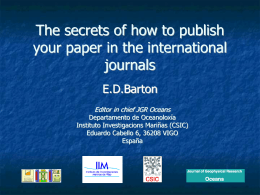 Secrets of Publishing in International Journals.ppt