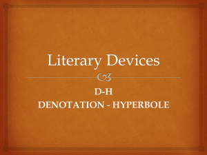 Denotation - Hyperbole - Crestwood Local Schools