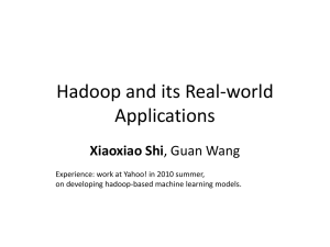 Hadoop and its Real-world Applications