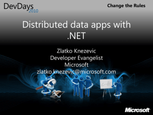Distributed data apps with .NET