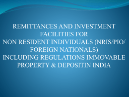 remittances and investment facilities for non resident