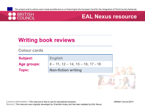Colour cards - EAL Nexus