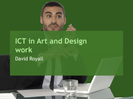 ICT in Art and Design work