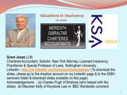 Insolvency Valuations