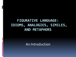 Figurative Language: Idioms, Analogies, Similes
