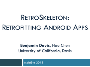 RetroSkeleton: Retrofitting Android Apps