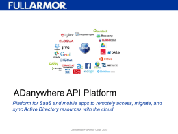 ADanywhere APIs