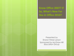 What`s New in Office 2010 PowerPoint