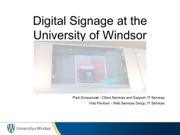 Digital Signage at the University of Windsor