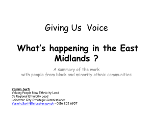 What`s Happening in the East Midlands?