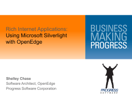 Getting Started with Silverlight and OpenEdge