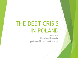 Gavin Rae - The Debt Crisis in Poland