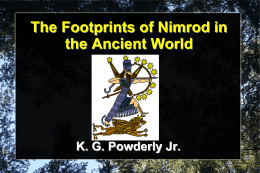 The Footprints of Nimrod in the Ancient World
