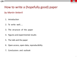 How to write a paper - Blogs