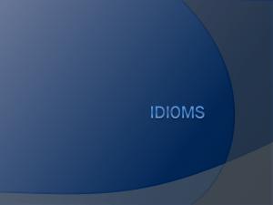 Idioms PowerPoint - Bookunitsteacher.com
