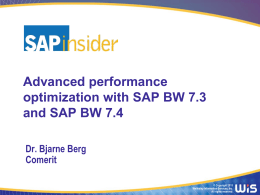 BI2015_Berg_Advanced_performance_optimization_with_SAP