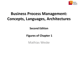 Concepts, Languages, Architectures