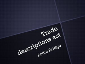 Trade descriptions act