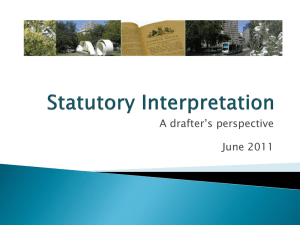 Statutory Interpretation for Government presentation