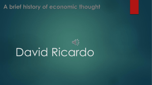 A brief history of economic thought : David Ricardo