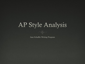 AP Style Analysis Unit 1 Tone_Attitude