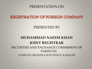 REGISTRATION OF FOREIGN COMPANY-Naeem Khan